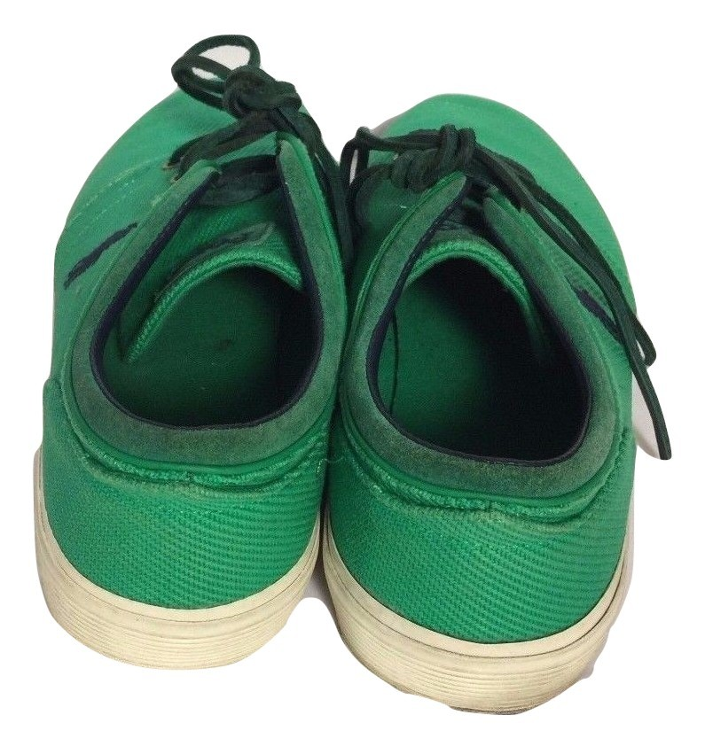 Polo Ralph Lauren Faxon Low Bright Green Canvas Casual Sneakers Shoes Sz 11D