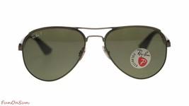 Ray Ban Men's Sunglasses RB3523 029/9A Matte Gunmetal/Polarized Green Lens - $115.43