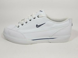 NIB NIKE WOMENS GTS LITE LEATHER SNEAKER CASUAL WHITE/MIDNIGHT NAVY 1430... - $49.99