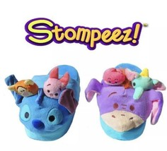 Disney Tsum Tsum Stompeez Slippers Stitch and Eeyore S/M Shoe Size 12.5-... - $16.82