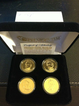 2010 US MINT GOLD PRESIDENTIAL $1 DOLLAR 4 COINS SET WITH BOX Certified - $23.36