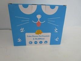 VEKEN CAT DOG BIRD  Automatic CUBE FLOWER Water Fountain 84oz/2.5L Blue - $29.95