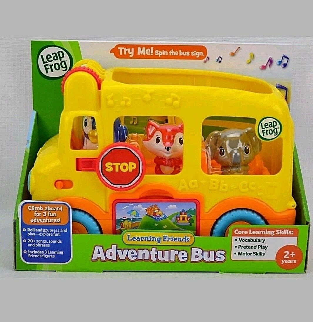 NEW Leap Frog Learning Friends Adventure Bus Core Learning Skills with Figures