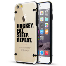 For iPhone SE 5 5s 6 6s 7 Plus Clear TPU Hard Case Cover Hockey Eat Slee... - $14.99