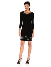 Calvin Klein Women's 3/4 Sleeve Sweater Dress W/ Grommet Detail - $236.84