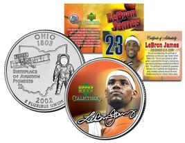 LEBRON JAMES Colorized Ohio Statehood Quarter U.S. Coin * PRE-ROOKIE * L... - $7.87