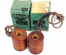 LOT OF 2 ASCO 74-073-1 SOLENOID COILS 740731, 115-125 D.C.