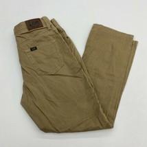 Lee Extreme Comfort Jeans Youth 14 Husky Tan 5-Pocket Straight Leg Cotton Blend - $18.95