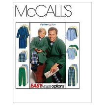 McCall's Patterns M6236 Boys'/Men's Robe With Tie Belt, Top, Pull-On Pan... - $14.21