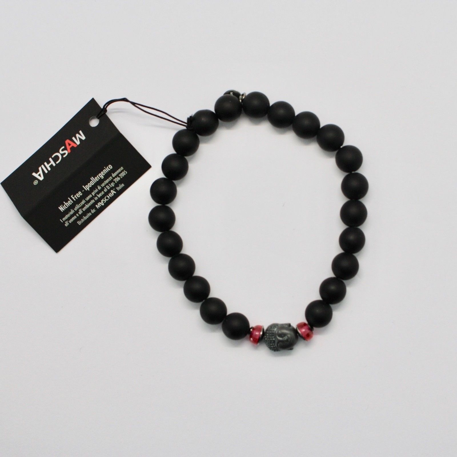 BRACCIALE IN ARGENTO 925 CON EMATITE E ONICE BPR-4 MADE IN ITALY BY MASCHIA image 3