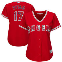 Women's 2018 Los Angeles Angels Jerseys #17 Shohei Ohtani Jersey Red Sti... - €33,95 EUR