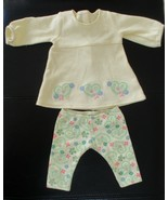 American Girl Bitty Baby Yellow 2 Pc Outfit With Heart & Flowers Design - $39.59