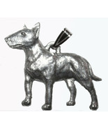 Bull Terrier Pendant Dog Harris Fine Pewter Made in USA jewelry for neck... - $10.99