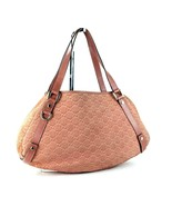 Authentic GUCCI Peach Suede & Leather Tote Hand Bag Purse Italy 130736 4... - $197.01