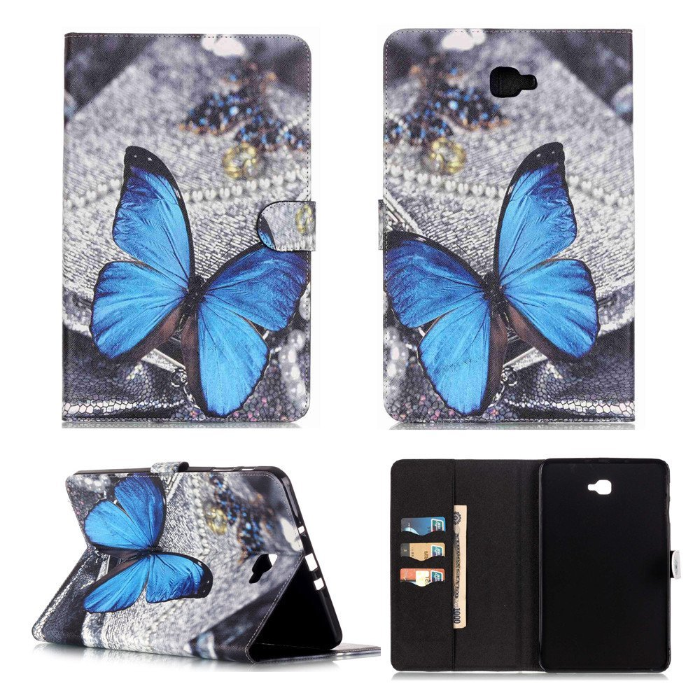 Galaxy Tab A 10.1 Case,T580 Case,XYX [Blue Butterfly] PU Leather Wallet Case Kic for sale  USA