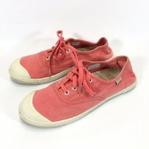 Keen Coral Canvas Sneakers Womans 10.5 Lace Up Shoes Removable Insole - $19.30