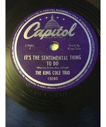 Die King Cole Trio - It's The Sentimental Thing zu Do / Put Em in Box, Krawatte - $15.74