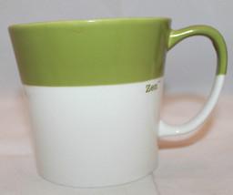 Starbucks 2010 Tazo Zen Green Two Tone White New Bone China Coffee Tea M... - $22.52