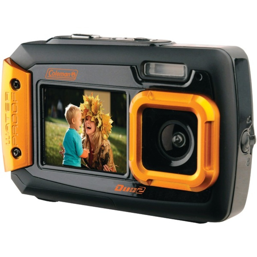 Primary image for Coleman 2V9WP-O 20.0-Megapixel Duo2 Dual-Screen Waterproof Digital Camera (Orang