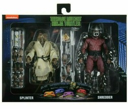 "NECA Teenage Mutant Ninja Turtles- 1990 Movie 7"" Splinter Shredder Actio... - $103.90"
