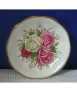 LADY SYLVIA by Queen Anne REPLACEMENT SAUCER  Scalloped Red White Roses ... - $7.28