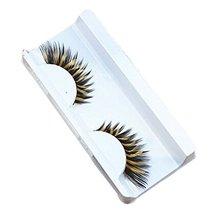 3 PCS Inkjet Yellow Zebra Stripe False Eyelashes Professional Stage Art image 2
