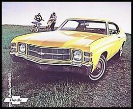 1971 Chevrolet Chevy Malibu Chevelle SS Brochure 16 pgs Xlnt 71 - $10.93