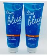 2 Bath & Body Works True Blue Spa Super Rich Body Cream Lay It On Thick 10 oz - $42.52