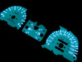 88-91 HONDA CIVIC SI DX LX RT SE WAGON 5 Speed White Face Glow Gauges Ga... - $35.63