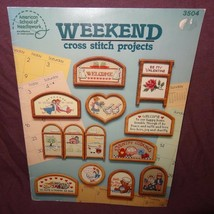 Weekend Cross Stitch Project Pattern Leaflet Book Teddy Bear Country Dog... - $9.99