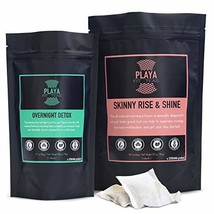 Playa Fit Teas Skinny Detox & Weight Loss - 2 Pack Day & Night - 1 Month... - $37.26
