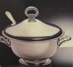 ROYAL LIMITED SOUP TUREEN W/LID LADLE & 2 QT STAINLESS INSERT SILVER PLA... - $194.50
