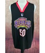 Harlem Wizards 50 Years 2012 Anniversary Basketball Black Jersey Men's 2XL - $13.67