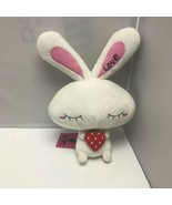 White Love Rabbit Strawberry Furyu Kawaii Plush Stuffed Animal 13″ - $59.99