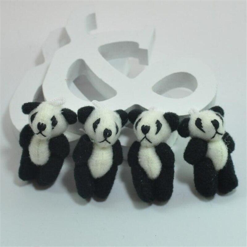 100pcs/lot Kawaii Small Joint Panda Bear Stuffed Plush Toys,Small Phone Pendant  image 4