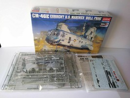 ACADEMY CH-46E U.S. Marines 'Bull Frog' Military Helicopter Model Kit NE... - $59.95