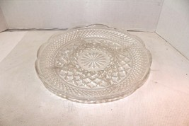 Vintage Mid Century Modern Cut glass divided serving relish crackers egg... - £14.39 GBP