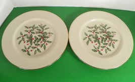 Lenox PRESIDENTIAL SPECIAL Dinner Plate (s) LOT OF 2 Holiday Large Decal... - $34.60