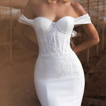 New Soft Style Soft Luxury Satin Mermaid Bridal Gown with Crystal and Pearls image 3