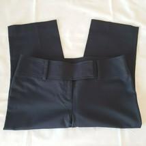 Ann Taylor Womens Cropped Pants Slacks Size 8 P Black Cotton Blend Excel... - $37.68