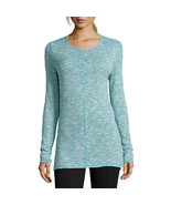 St. John's Bay Long-Sleeve Textured Tunic Size XL New Turquoise - $14.99