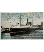 """Old Divided Back Postcard 1906 Steamer """"North Star"""" Leaving Dock Portlan... - $19.55"""