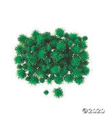Green Tinsel Pom-Poms - $12.98