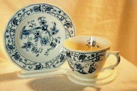 Nikko Ming Tree Blue Cup And Saucer Set #505 - $8.09