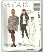 McCall's Sewing Pattern 7991 Misses Womens Shirt Pants Skirt Size 8 10 1... - $9.99