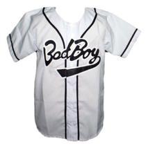 Biggie Smalls Bad Boy Baseball Jersey Button Down White Any Size image 3