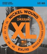 D'Addario EXL110 Electric Guitar Strings 10-46 Light sets - $11.95