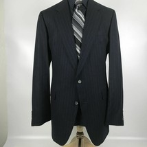 Hart Schaffner Marx Men's Size 44L Blue Wool Blend Blazer Sport Coat Jacket - $39.60