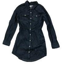 Levi's Girls Long Sleeve Woven Chambray Dress Dark Denim - $19.99