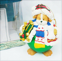 Traditions dog with bone Christmas ball ornament new in box - $5.89